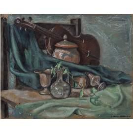 Richard Joseph Anuszkiewicz (b. 1930) Still Life, Oil