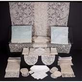 A Miscellaneous Collection of Lace Table Linens 20th