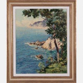 Artist Unknown (20th Century) Coastal Scene, Oil On