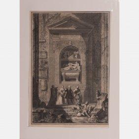Giovanni Volpato (1733-1803) Pisis In Coemeterio, 1796,