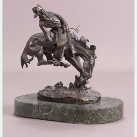 After Frederic Remington (1861-1909) Outlaw, Bronze,