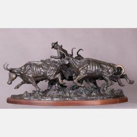 After Frederic Remington (1861-1909) Stampede, Bronze,