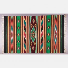A Navajo Woven Rug, Mid-20th Century,