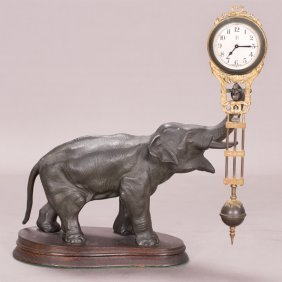 A Junghans Elephant Swinger Clock, 20th Century,