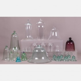 A Collection Of Blown Glass Garden Cloches, 19th/20th