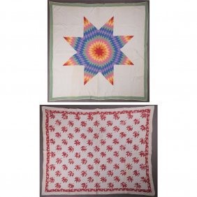 Two American Appliqu Quilts, 20th Century,