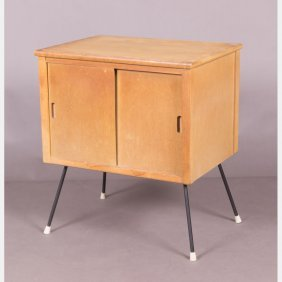 A Vintage Maple Record Cabinet, 20th Century