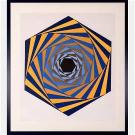 Victor Vasarely (1906-1997) Los Angeles, Serigraph,