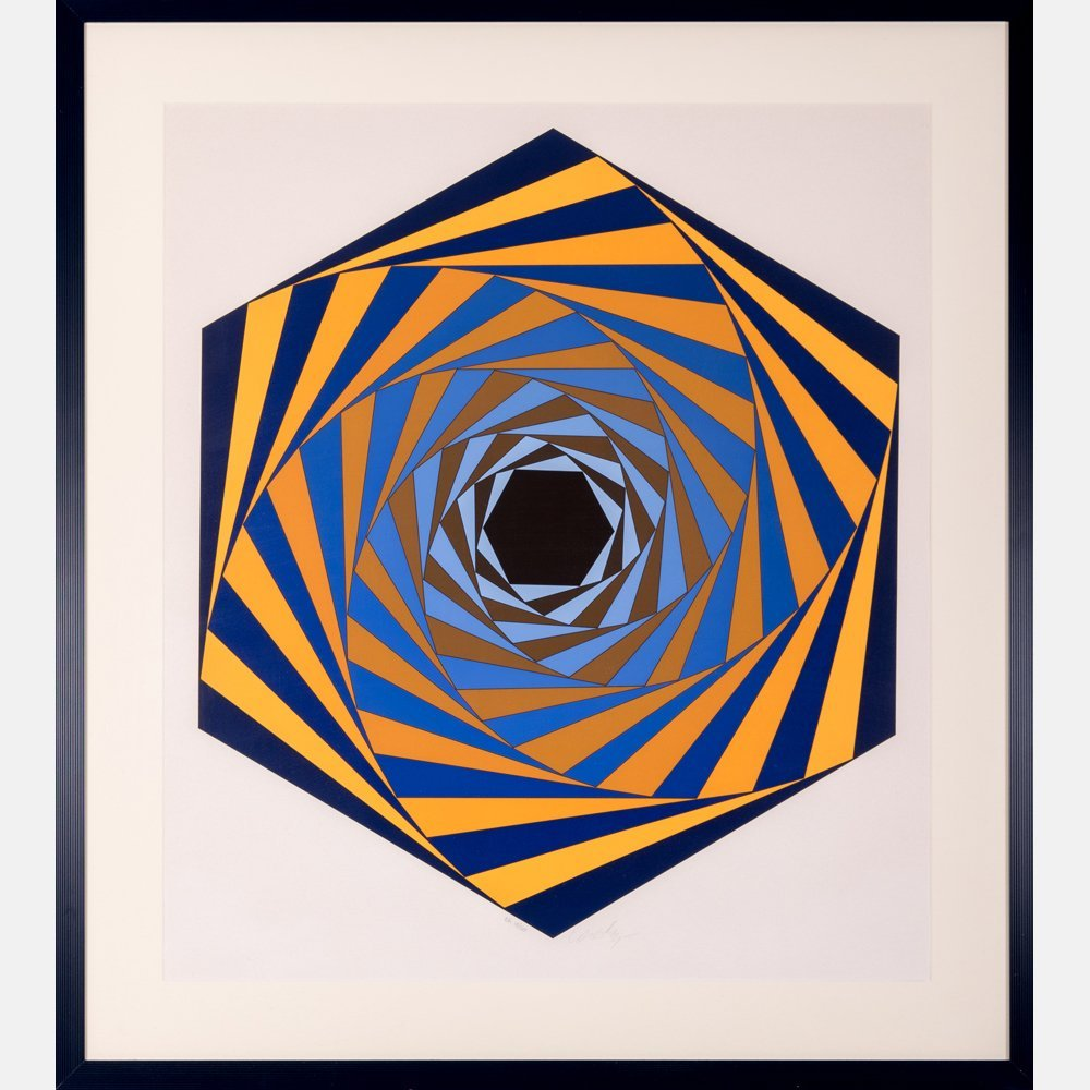 Victor Vasarely (1906-1997) Los Angeles, Serigraph,