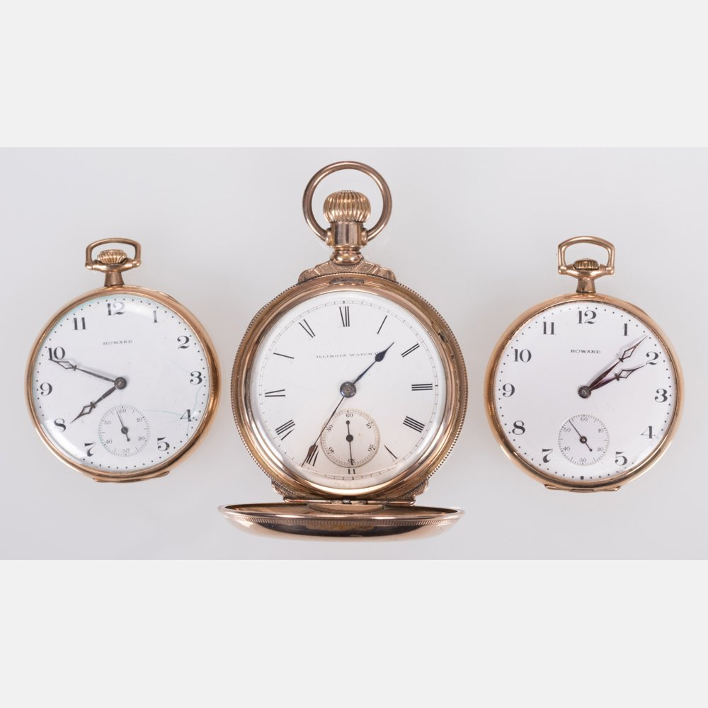 A Group of Three American Gold Filled Pocket Watches,