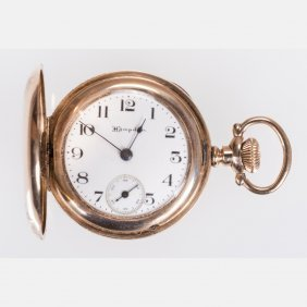 A Hampden Gold Plated Ladies Pocket Watch, 20th