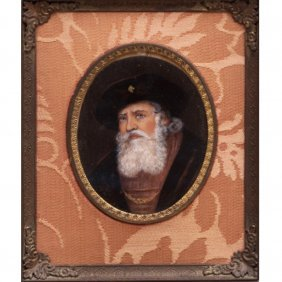 A Miniature Portrait Depicting A Gentleman, 19th