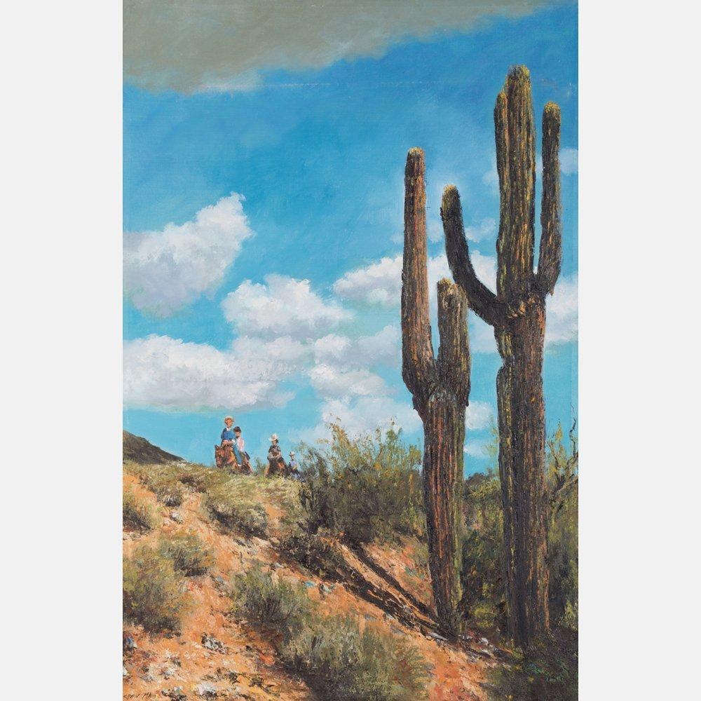 Chen Mao (1942-2011) South Western Scene, Oil on