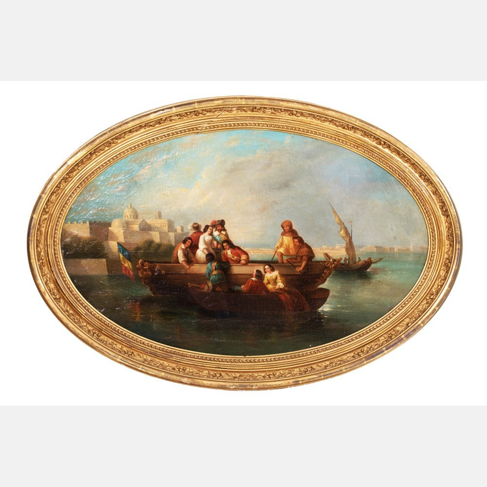 Artist Unknown (French, 19th Century) Figures on a