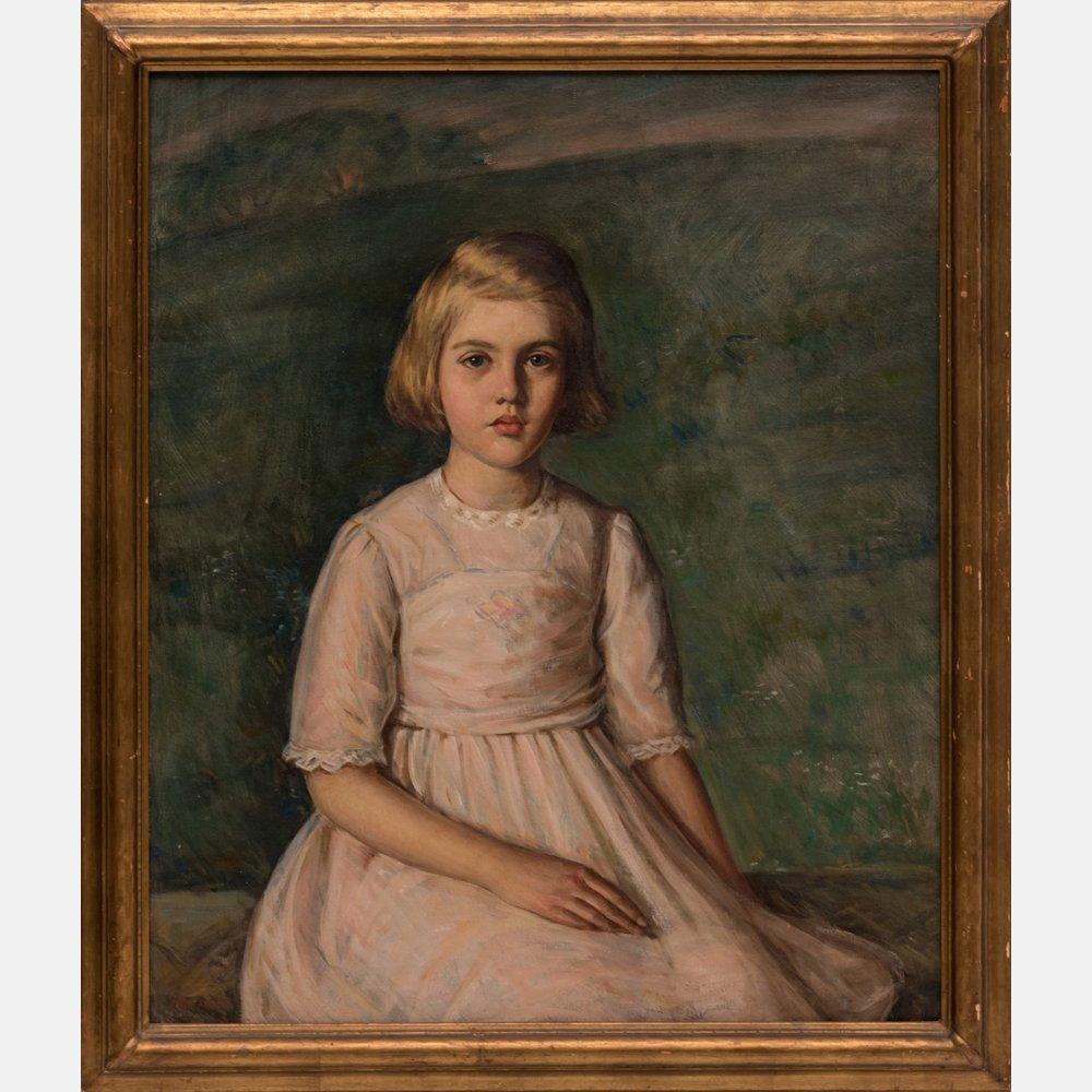 Harry Farlow (1882-1956) Portrait of Margaret Hildt,
