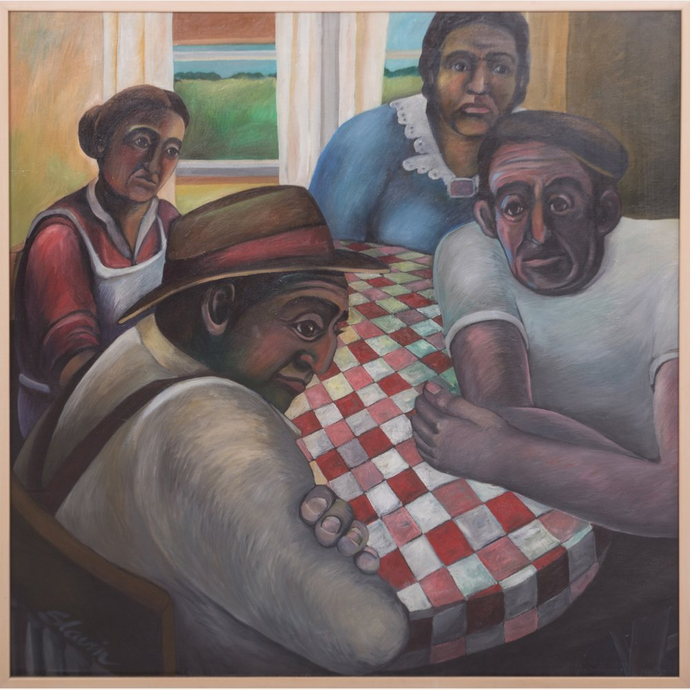 Dale Slavin (20th Century) Around the Kitchen Table,