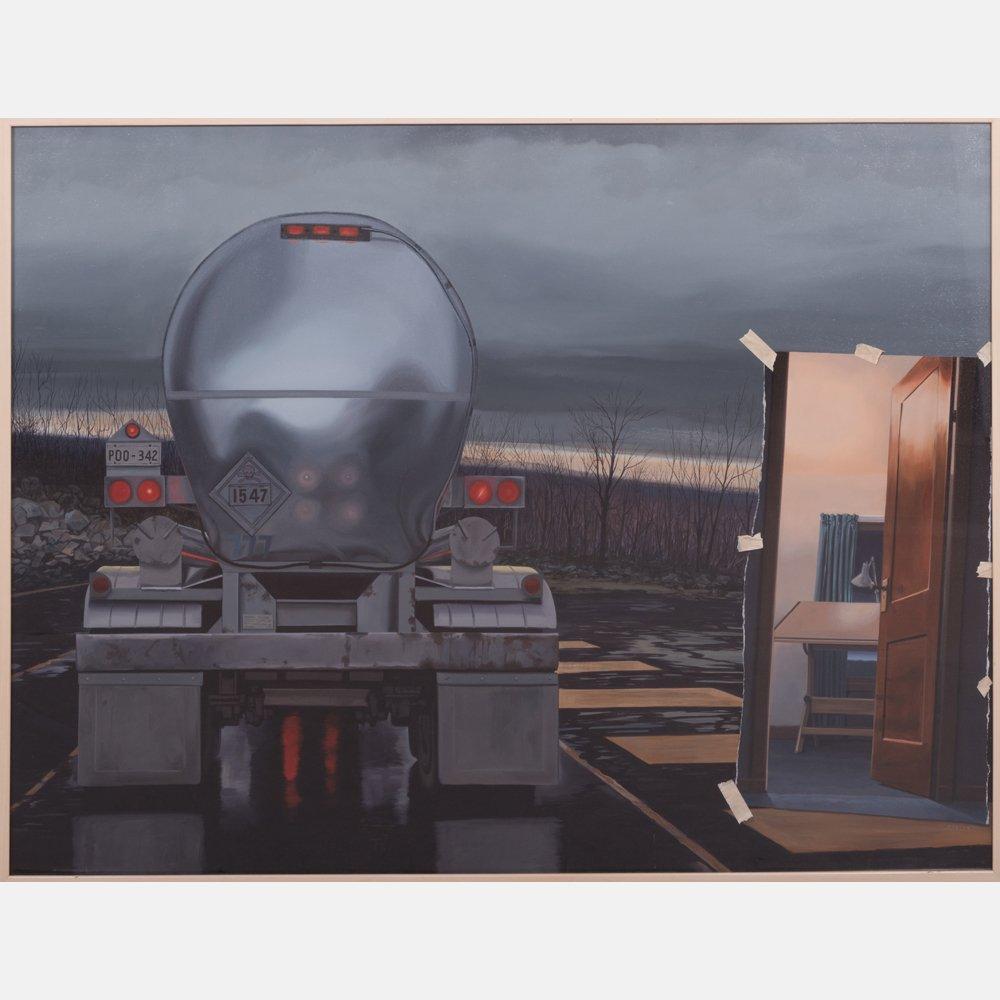 Ron Porter (20th Century) Poo-342, 1990, Oil on canvas,