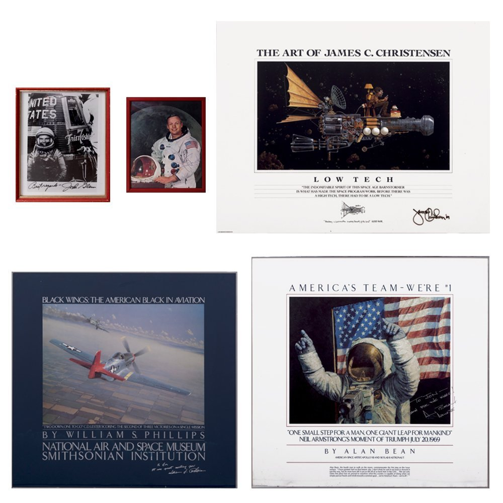 A Group of Five Aerospace and Aviation Autographed