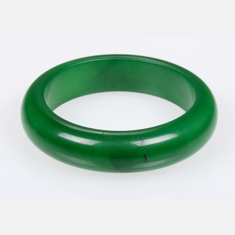 A Green Jade Bangle Bracelet,