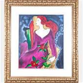 Linda Le Kinff b 1949 Le Debutante Serigraph on