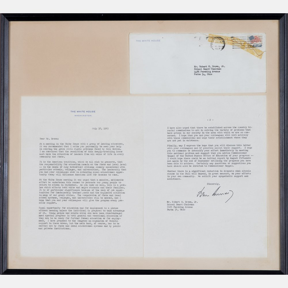 A Typed Two Page Letter Hand Signed by President John