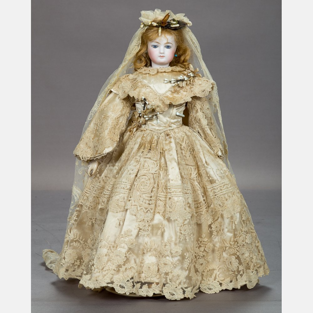 A Very Fine Jumeau French 18in. Bisque Fashion Doll, c.