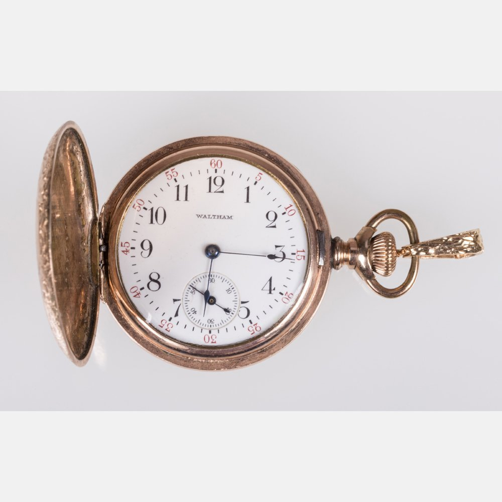 A Ladies Yellow Gold Filled Waltham Pocket Watch.
