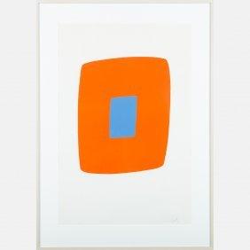 Ellsworth Kelly (american, B. 1923) Orange With Blue,