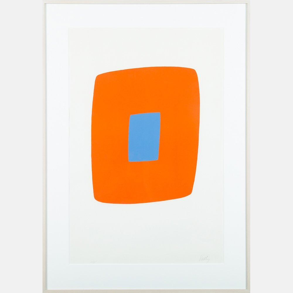 Ellsworth Kelly (American, b. 1923) Orange with Blue,