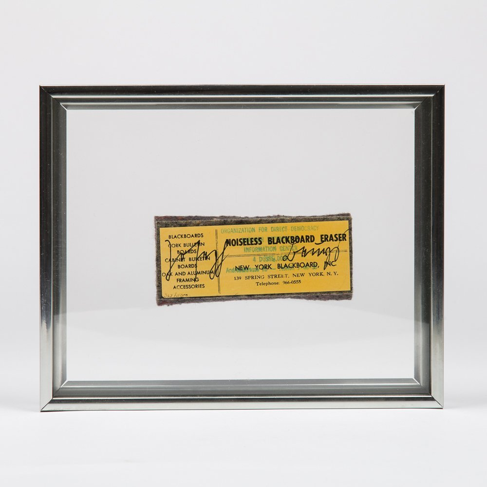 Joseph Beuys (1921-1986) Noiseless Blackboard Eraser,