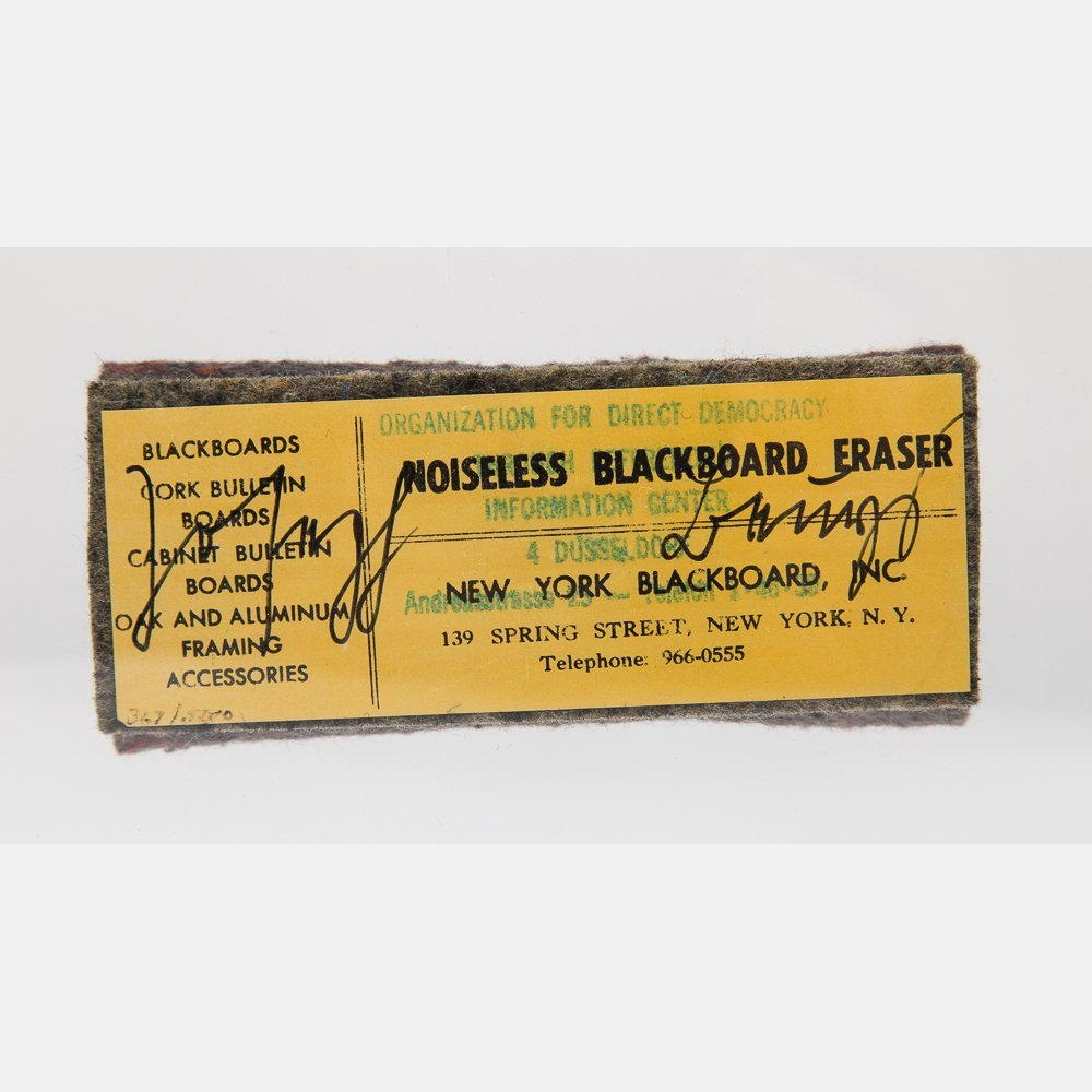 Joseph Beuys (1921-1986) Noiseless Blackboard Eraser, - 4