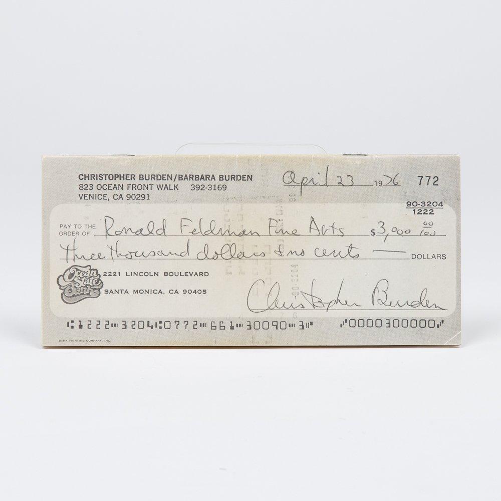 Chris Burden (1946-2015).  Full Financial Disclosure.