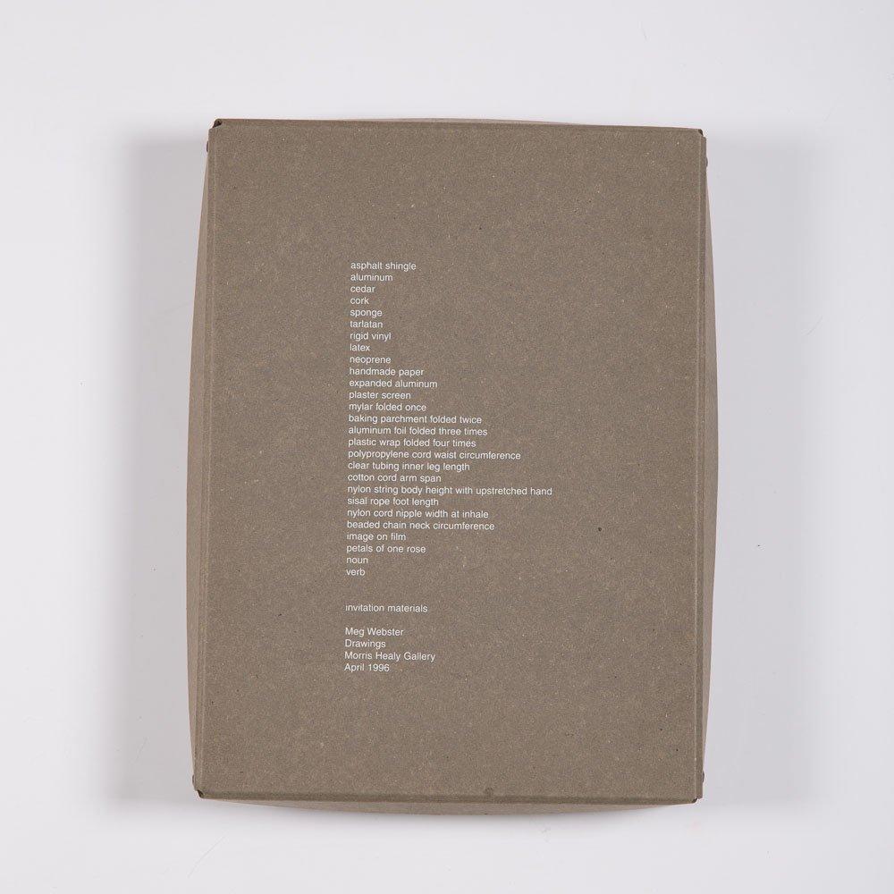 Meg Webster (b. 1944) Invitation Materials, 1996,
