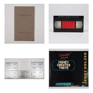 A Group of Four Items Pertaining to Jenny Holzer (b.
