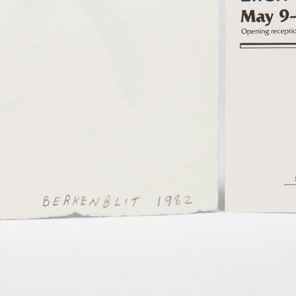 Ellen Berkenblit (b. 1958) Horsehead, Ink on paper, - 3