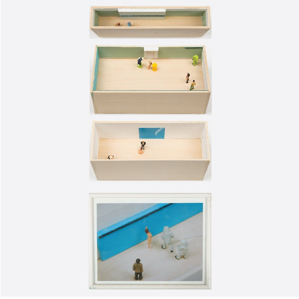 William Radawec (1952-2011) Three Dioramas from 'A