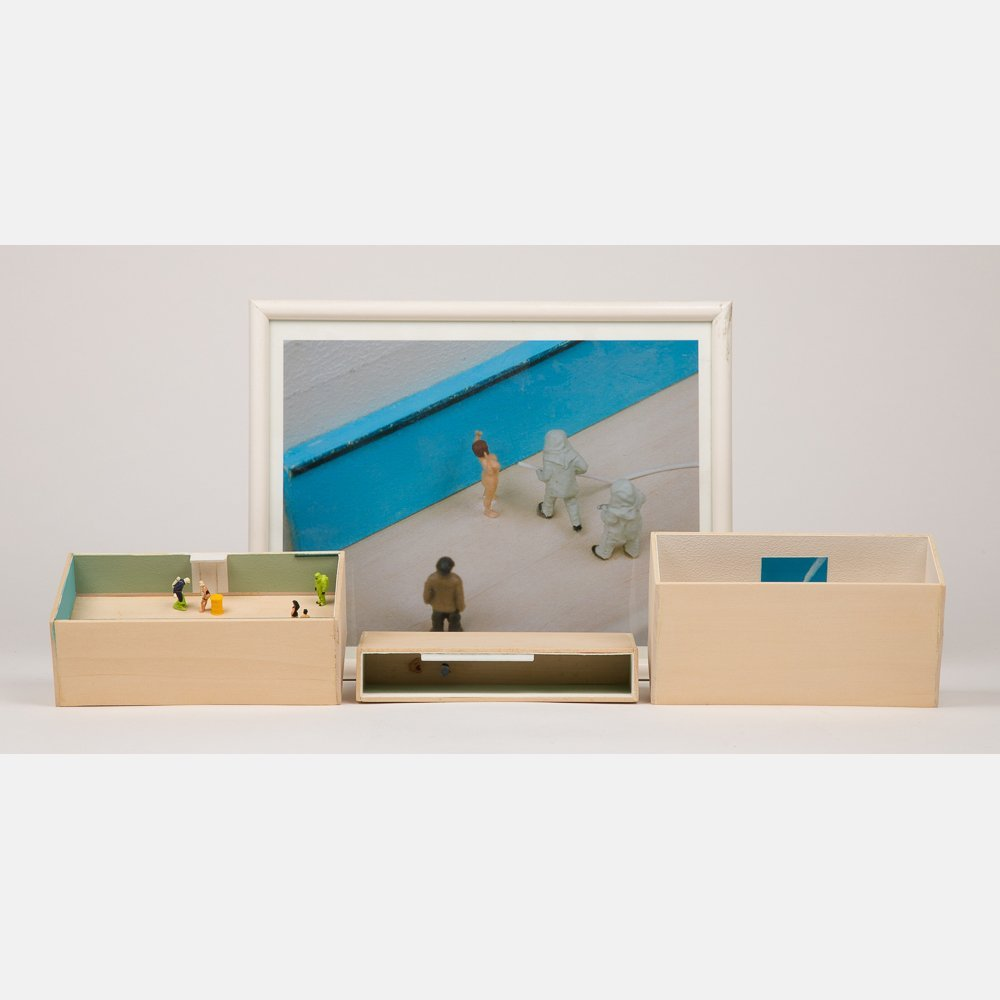 William Radawec (1952-2011) Three Dioramas from 'A - 2