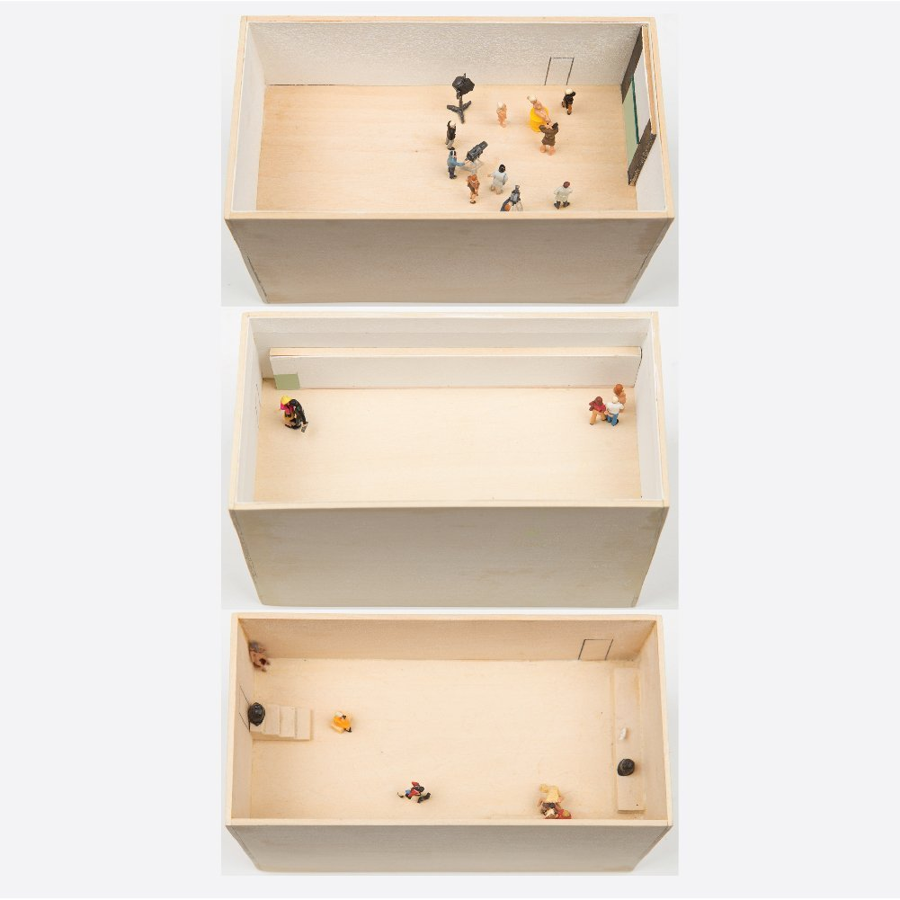 William Radawec (1952-2011) Three Dioramas from 'A