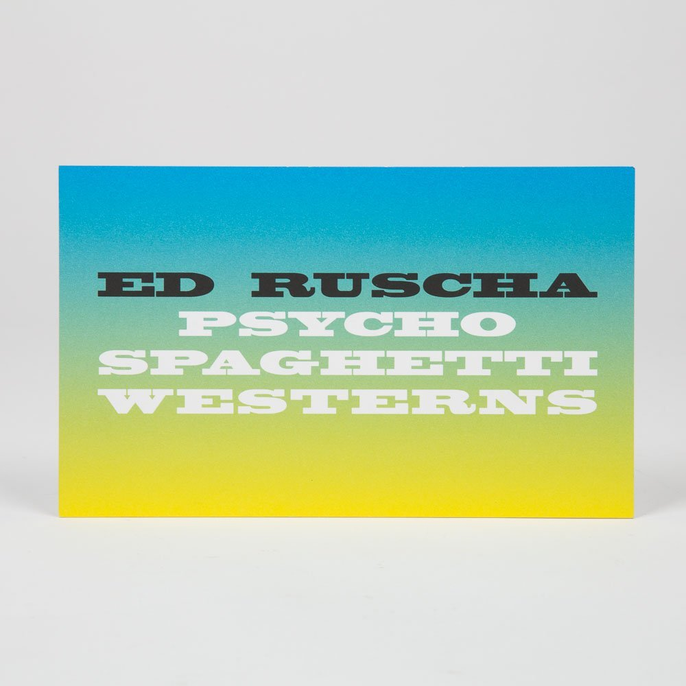 Ruscha, Ed (b. 1937).  They Called Her Styrene. London: - 2