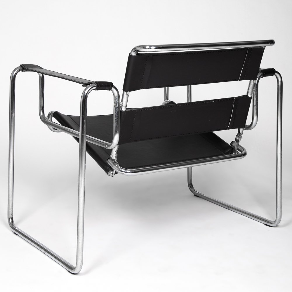 A Marcel Breuer (1902-1981) Leather and Bent Tubular - 2