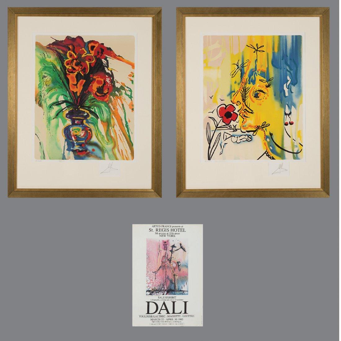 Salvador Dali (1904-1989) Fleurs Surrealist: Gala's