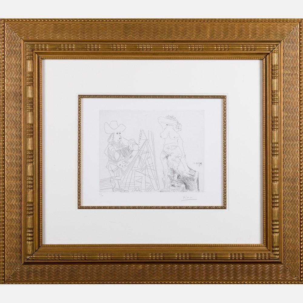 Pablo Picasso (1881-1973) Peintre et Modele qui se