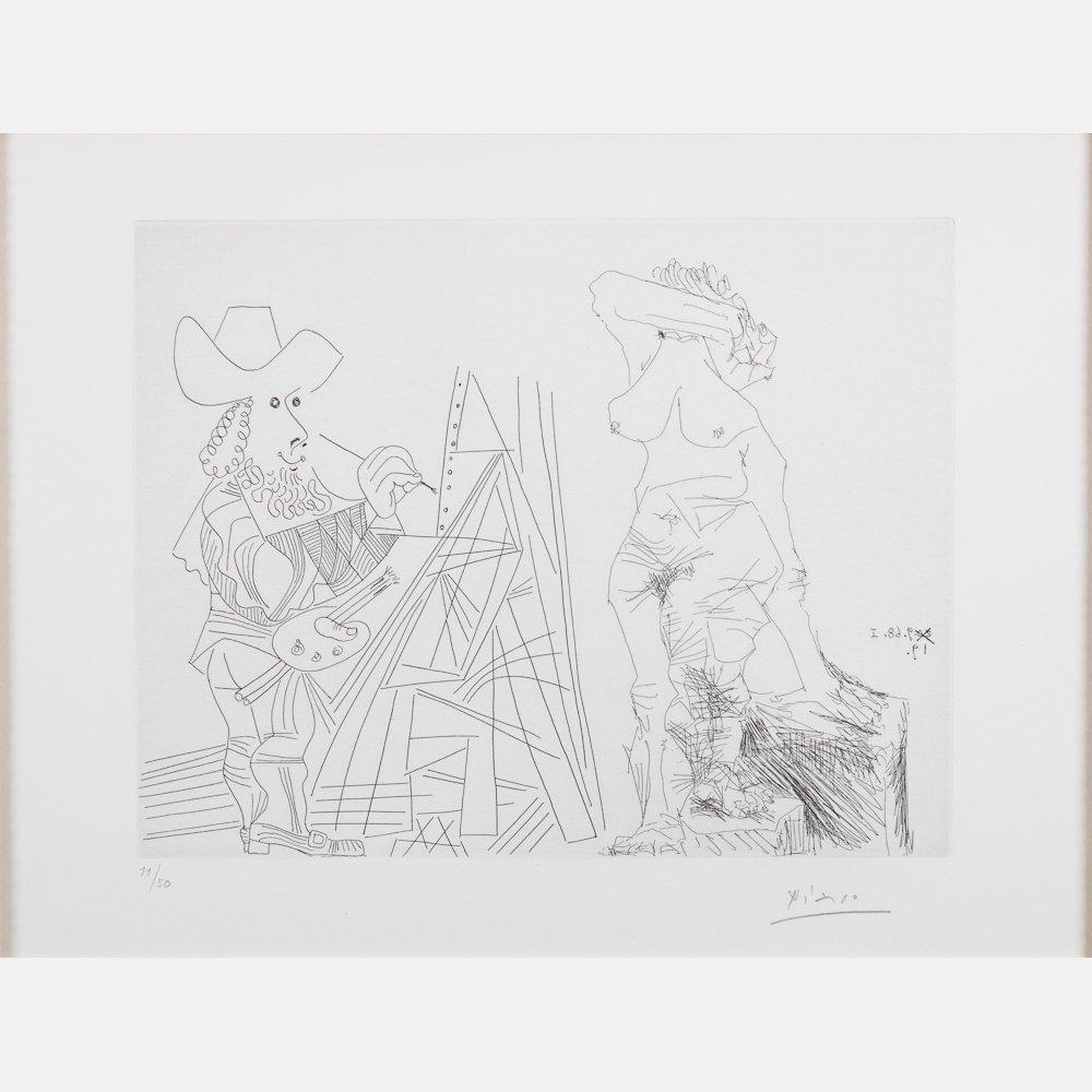 Pablo Picasso (1881-1973) Peintre et Modele qui se - 2