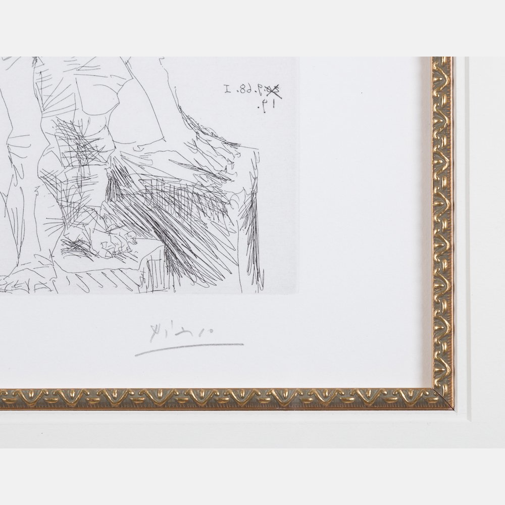 Pablo Picasso (1881-1973) Peintre et Modele qui se - 3