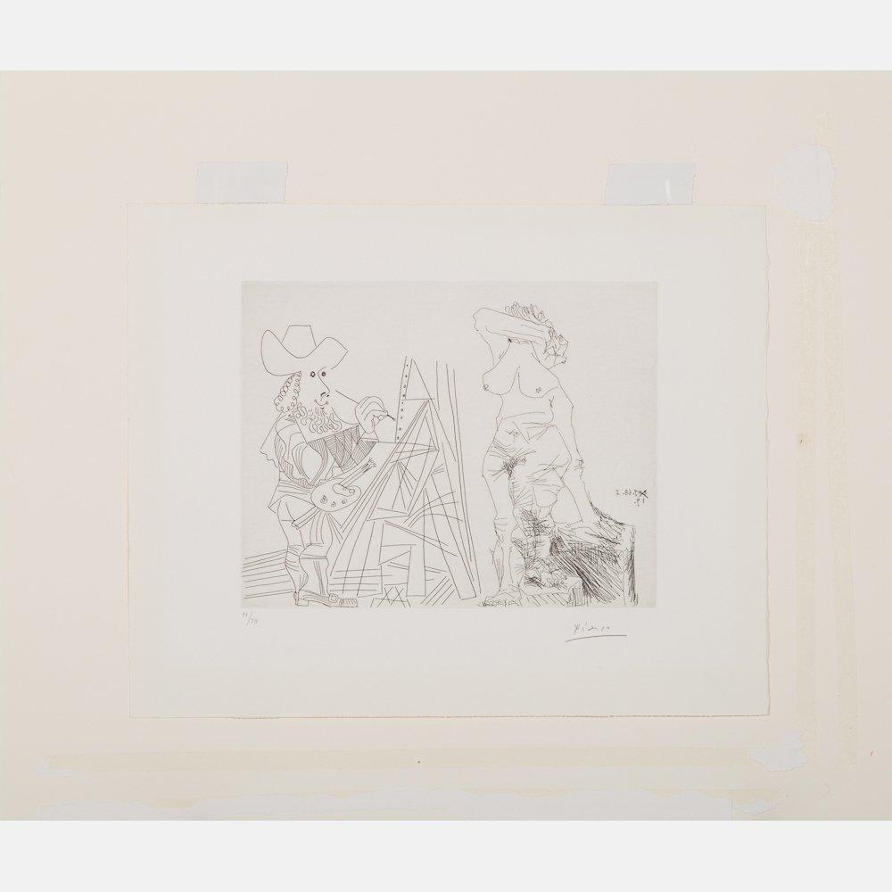 Pablo Picasso (1881-1973) Peintre et Modele qui se - 5