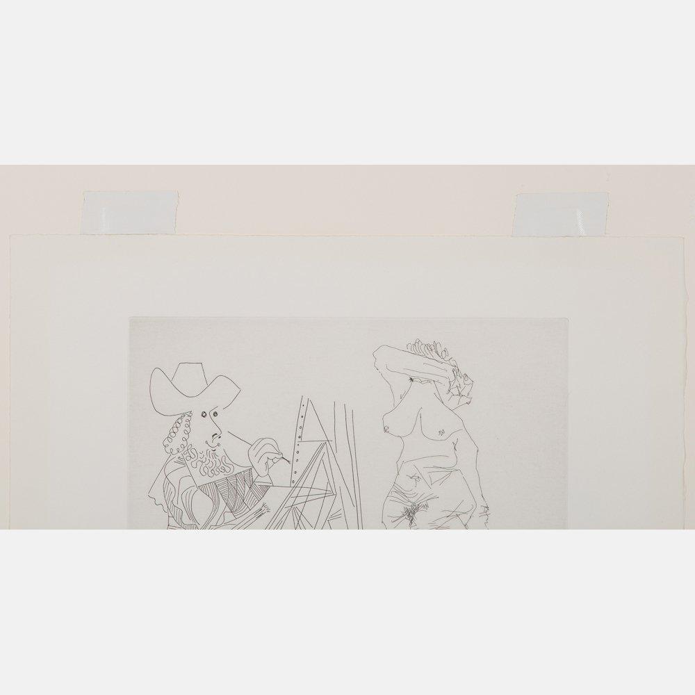 Pablo Picasso (1881-1973) Peintre et Modele qui se - 6
