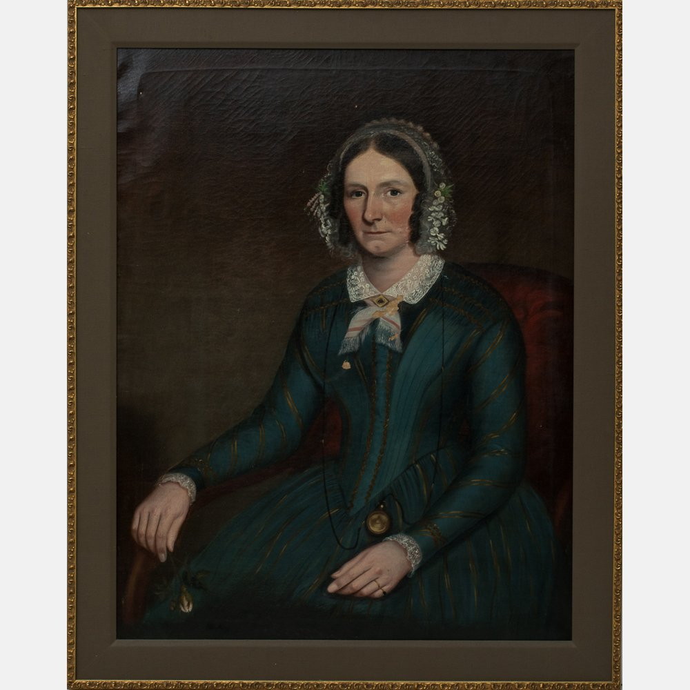 Attributed to Ammi Phillips (1788-1865) Portrait of a