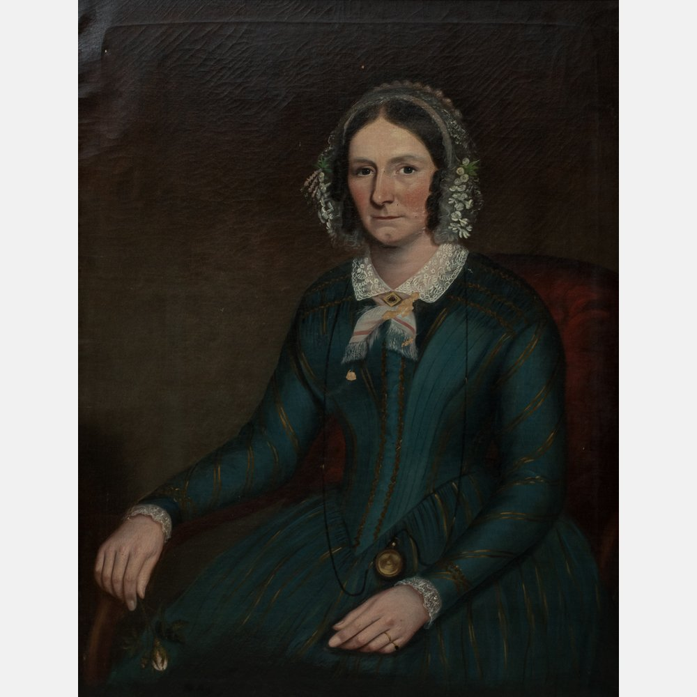 Attributed to Ammi Phillips (1788-1865) Portrait of a - 2