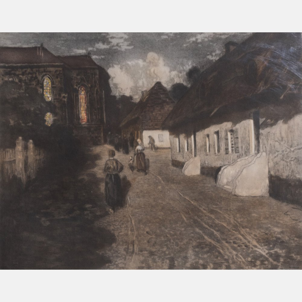 Frits Thaulow (1847-1906) Marias aned, Etching in - 2