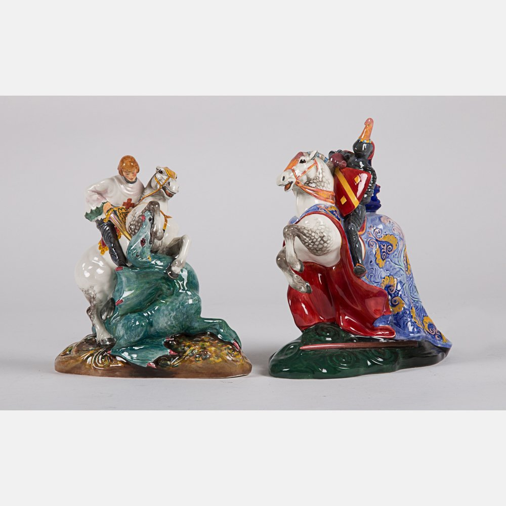 Two Royal Doulton Figurines, 20th Century,